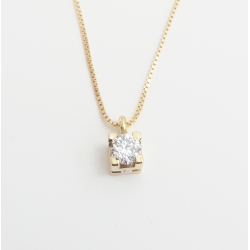 COLGANTE ORO BRILLANTE 0.10 CT