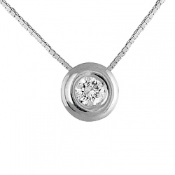 COLGANTE ORO BLANCO BRILLANTES 0.08CT.