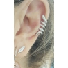 EAR CUFF PLATA SERPIENTE
