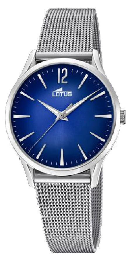 Detalles de Reloj Revival mujer 184083 Lotus brazalete milanesa esfera azul