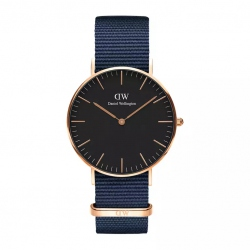 DANIEL WELLINGTON CLASSIC BLACK BAYSWATER 36 MM. ROSE