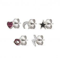 SET PENDIENTES NOMINATION PIERCING